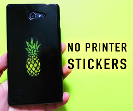 DIY Clear Stickers Without a Printer in One Minute