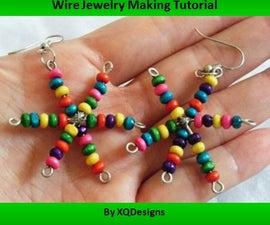 Snowflakes Earrings Jewelry Making Tutorial