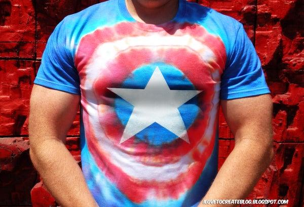 Captain America Tie Dye Avengers Shirt
