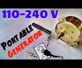 DIY Portable AC Power Generator for Emergency