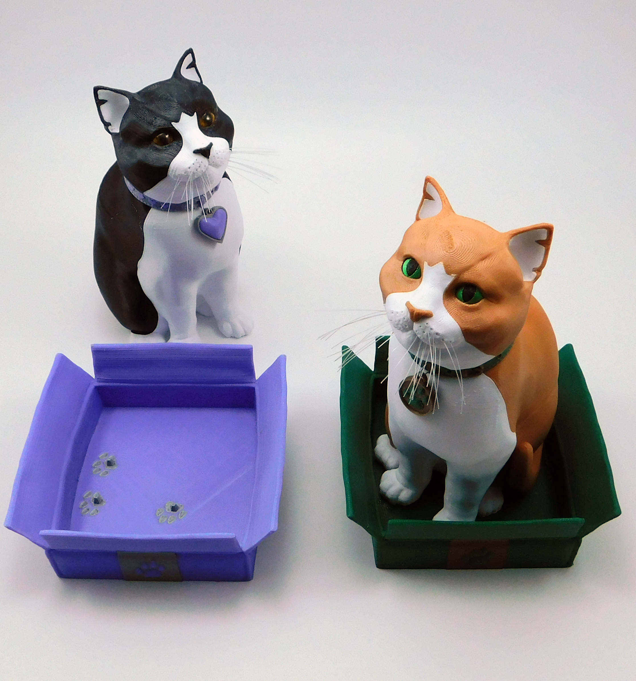 Picture of Schrodinky: British Shorthair Cat in a Box – 3D Printable, Multi Part Model Assembly Guide