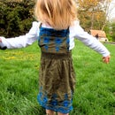 cute kids jumper dress out of old shirt