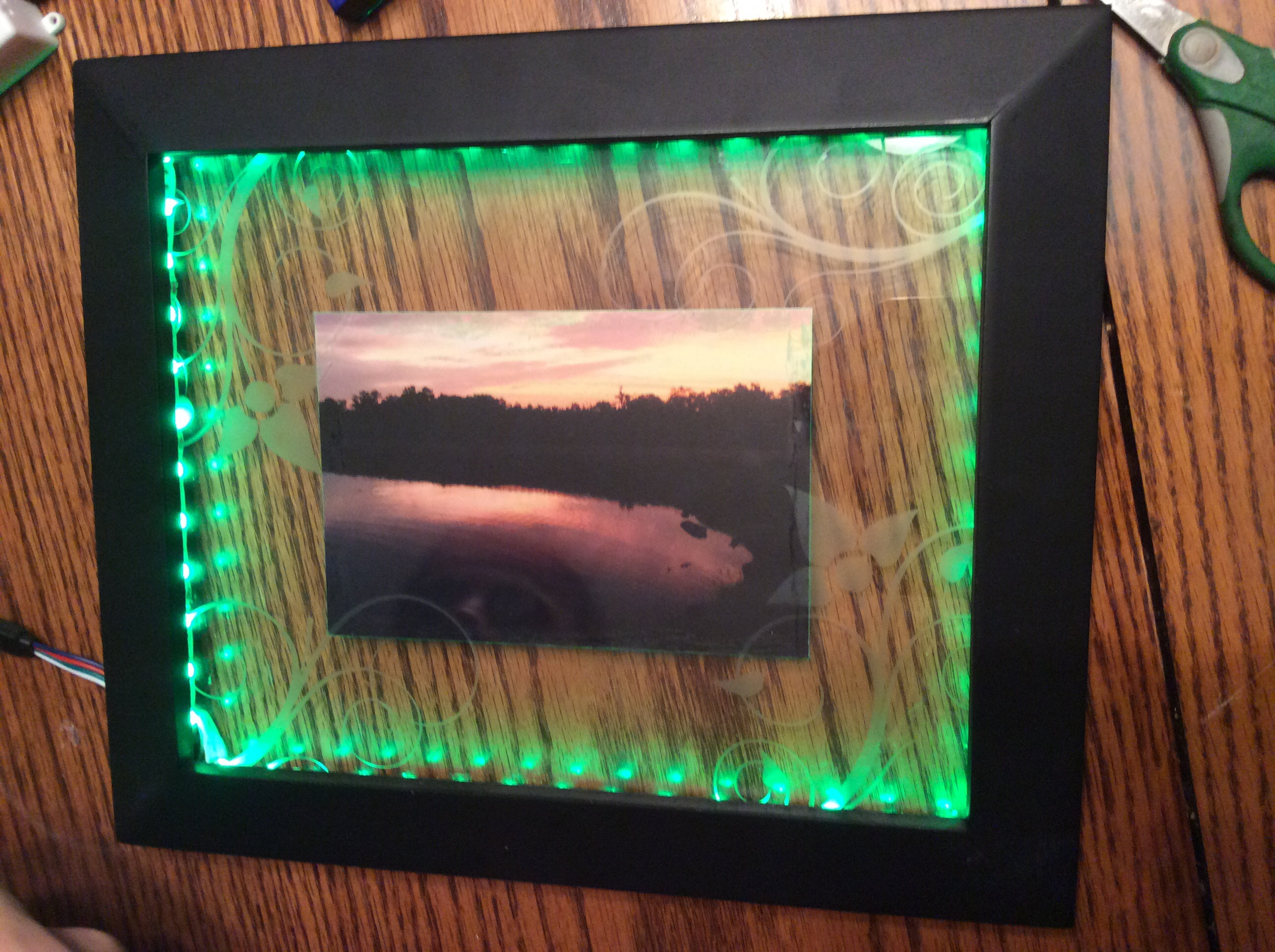 Picture of RGB LED Picture Frame (Music Controlled)