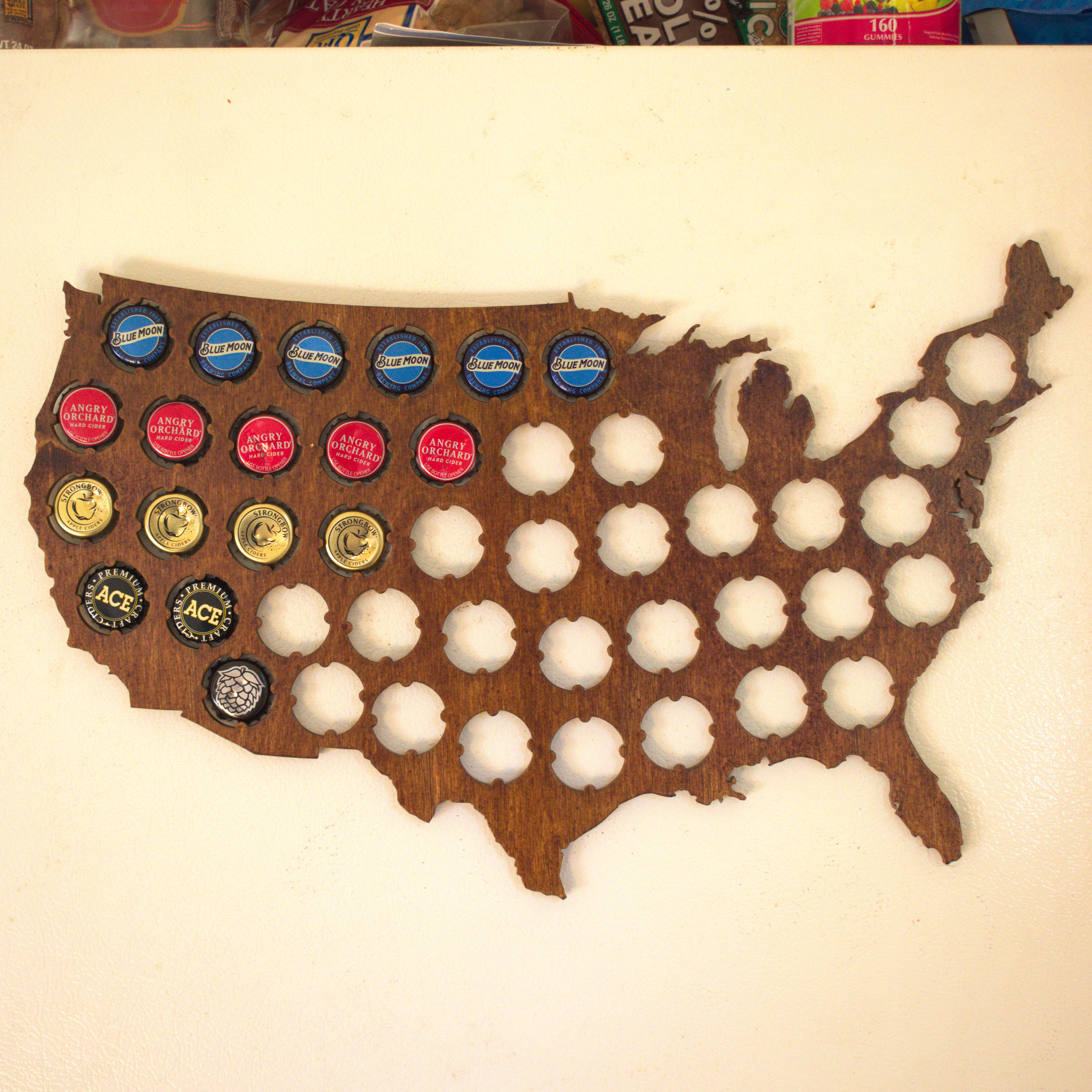 Picture of Beer Cap Map