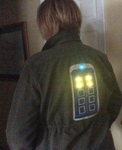 DIY Light-up TARDIS Patch Jacket