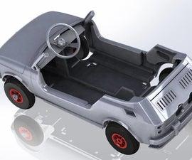 Kids Car Plywood Laser Cut Tot Rod