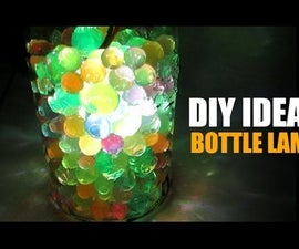 DIY Ideas - How to Make Bottle Lamp, Recycled Bottle Lamp, Room Decor Ideas, Home Decor Ideas