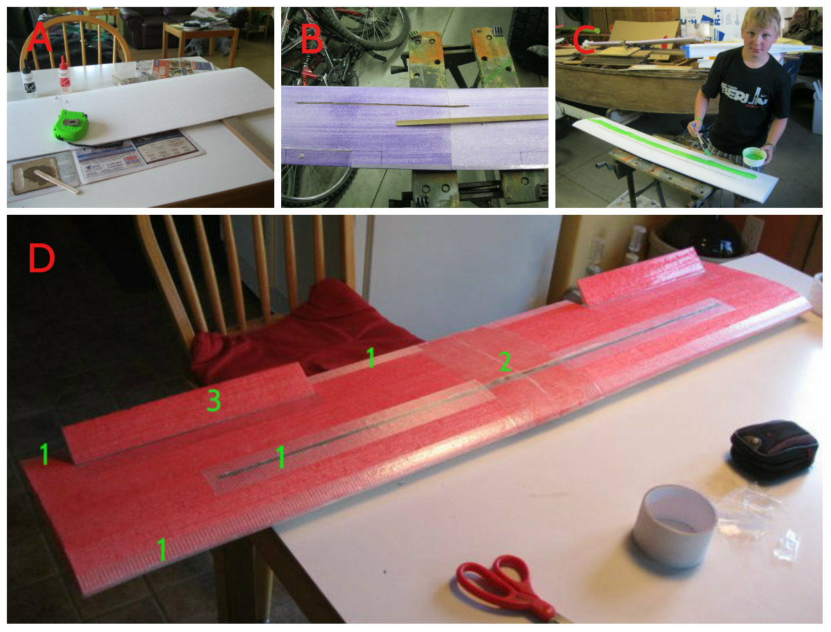 Picture of Wing 2 - Gluing and Reinforcing