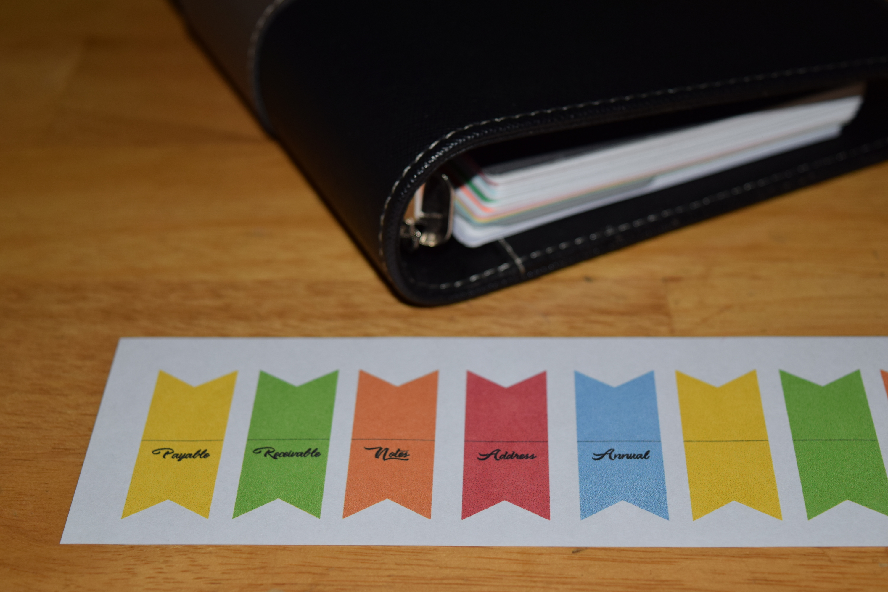 Picture of Top Divider Tabs