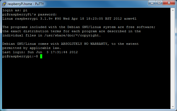 Picture of SSH Login
