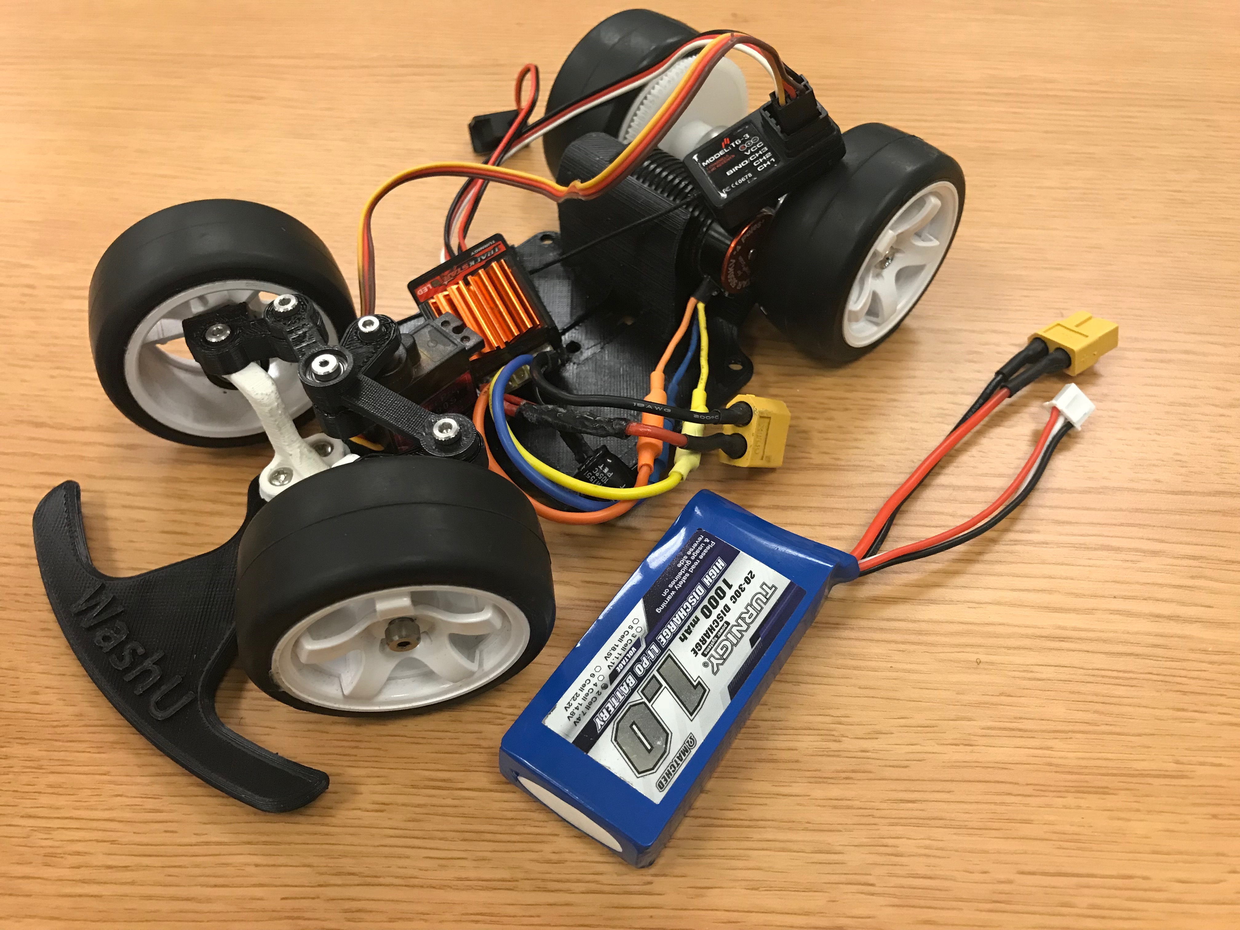 Picture of Power Everything With the LiPo Battery, and Test With RC Controller
