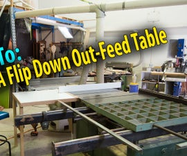 Drop-Down Out Feed Table
