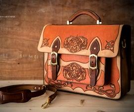 Vintage leather briefcase/satchel