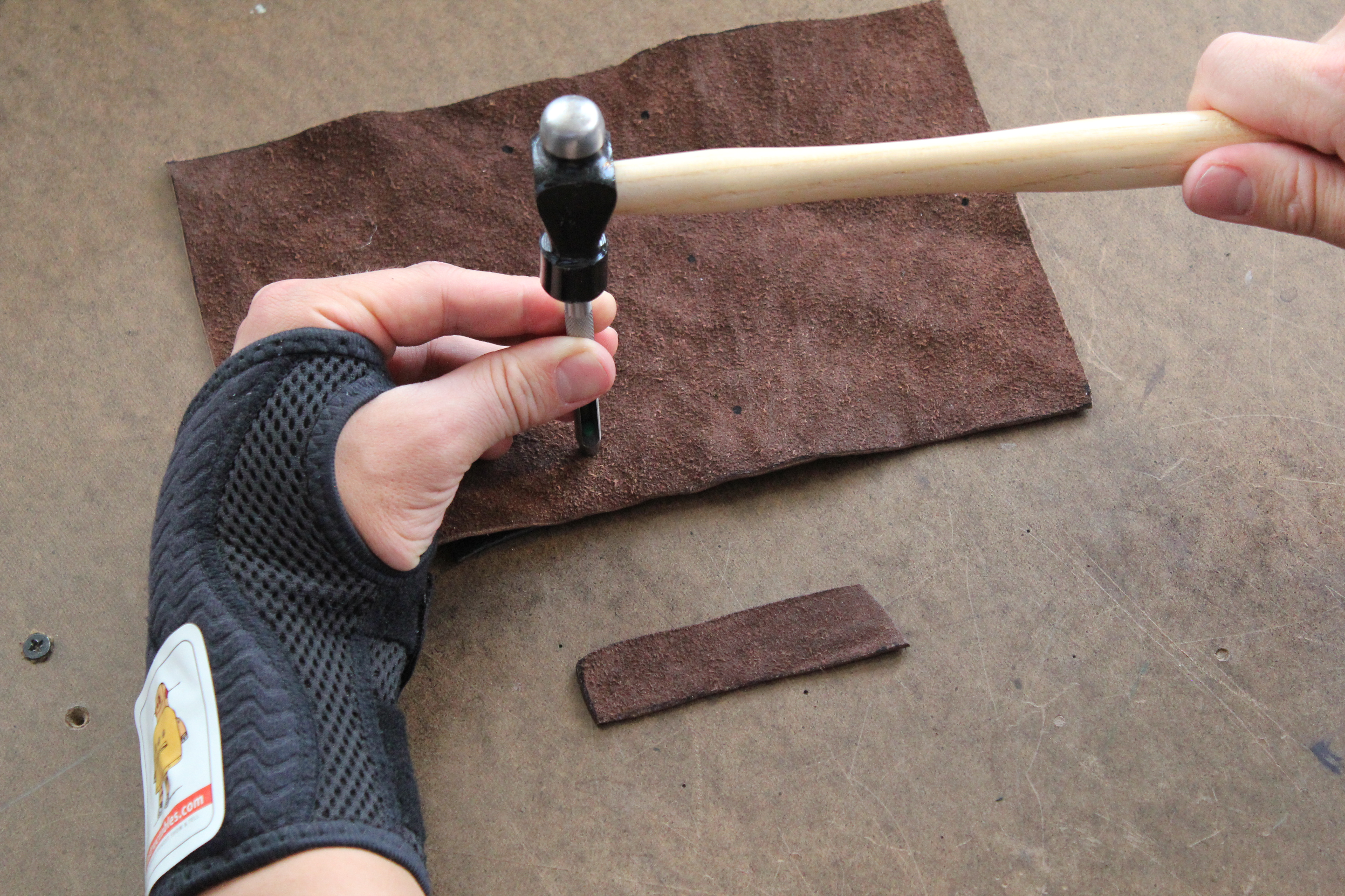 Picture of Cut Leather and Punch Holes