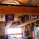 Boards & Baling Twine: A Rafter Bookshelf