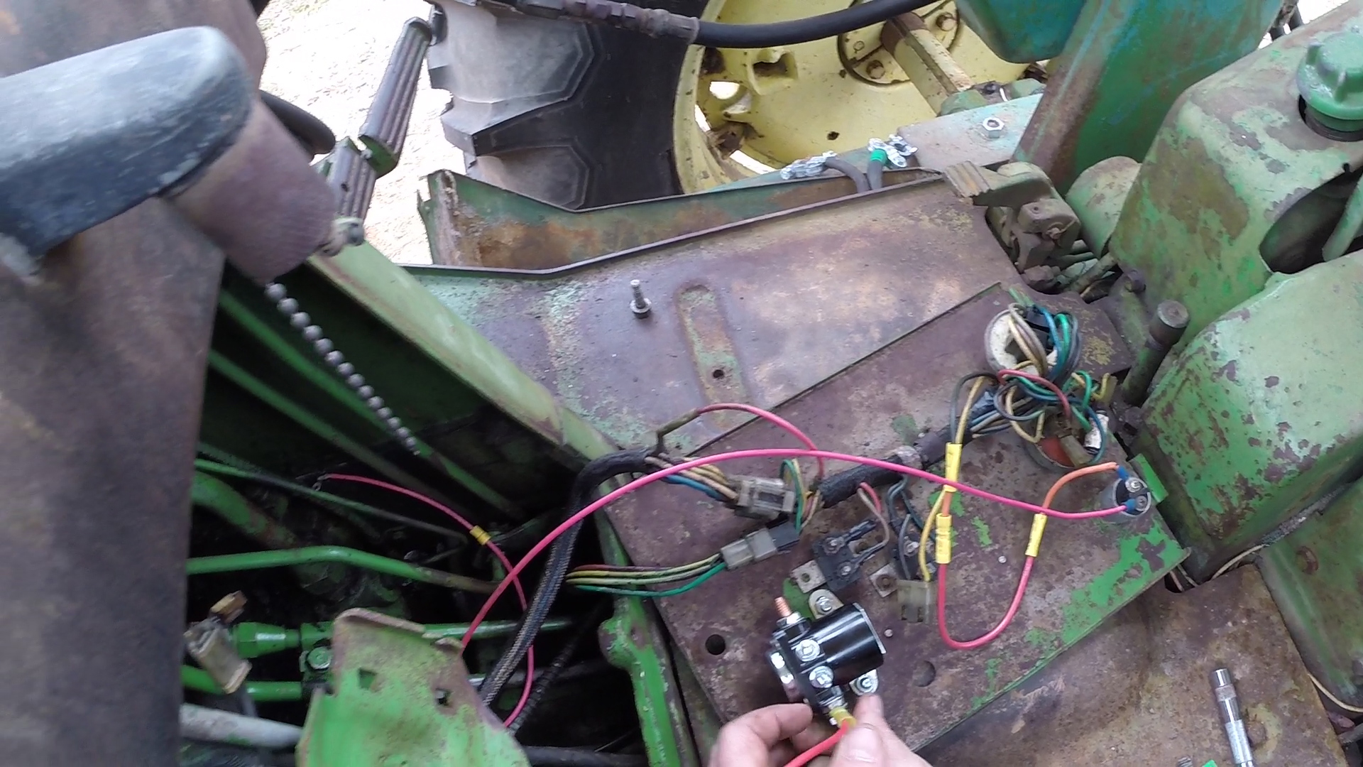 Picture of Connect the Wires to the Secondary Solenoid and the Starter Wiring.