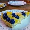 Pineapple-Blueberry Fresh Fruit Tart
