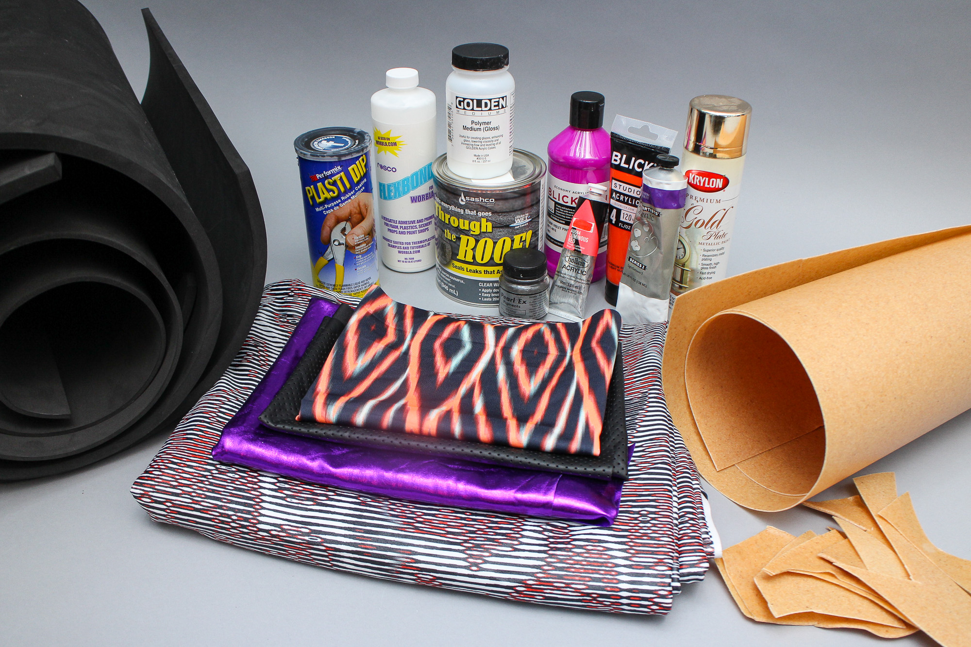 Picture of Materials for Superhero Costume Construction