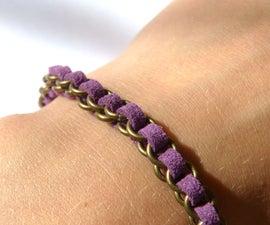 Jump Ring Woven Bracelet