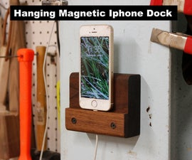 Hanging Magnetic Iphone Dock