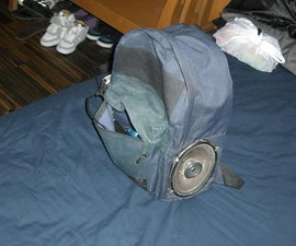 DIY speaker backpack
