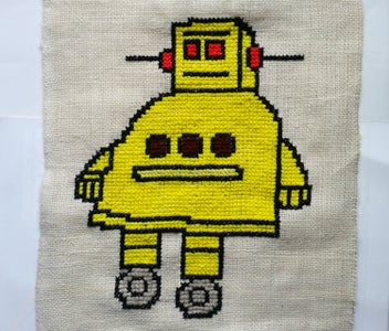 Cross-Stitched Instructables Robot