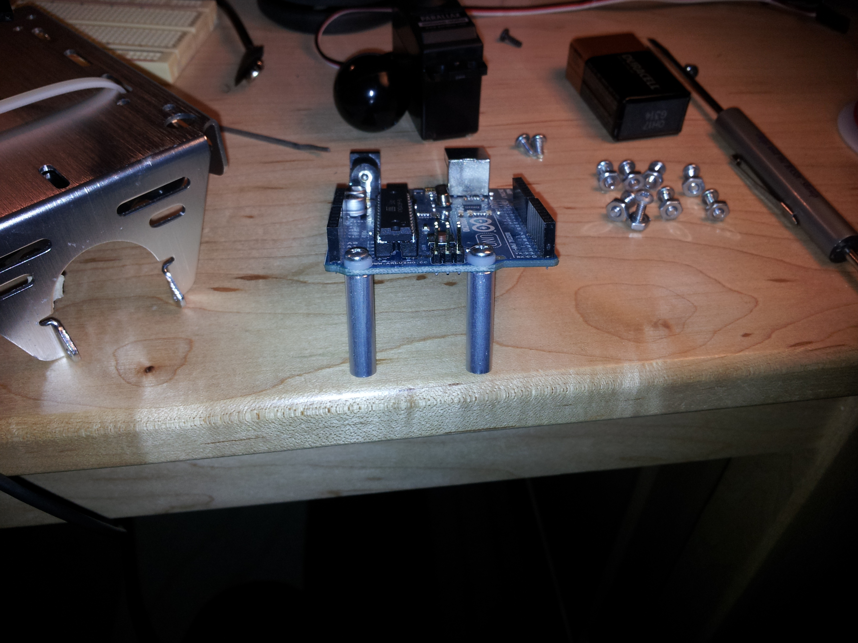 Picture of Attach the Arduino to the Chassis