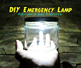 Ultrabright LED Emergency Lamp (Rechargeable!)