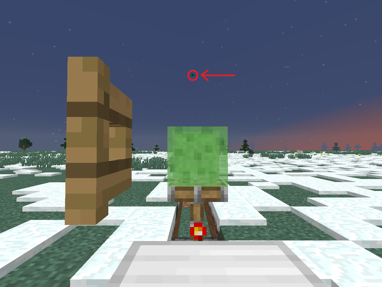 Picture of Activating the Ender Pearl Launcher