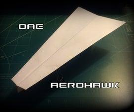 How to Make the Aerohawk Paper Airplane