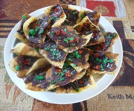 Toffee Tortilla Chips with Candied Jalapenos