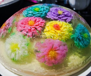 Mothers Day GIFT Rainbow Flower Jelly Cake Surprise