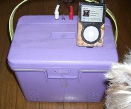 carry cooler box speaker