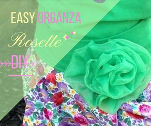 Organza Fabric Flower Rosette EASY