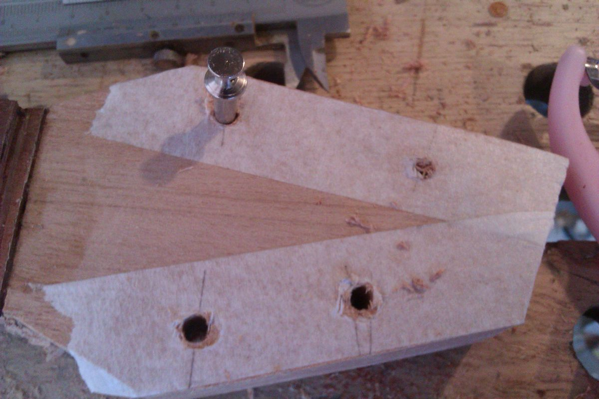 Picture of Put in the Holes for the Tuning Pegs, Thickness the Headstock and Shape the Neck.