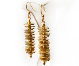 Faux Gold Cardboard Earrings