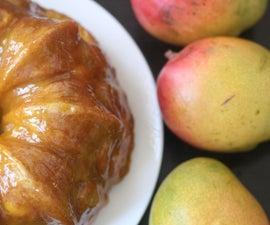 Mango Vanilla Bean Bundt Cake with Mango Soaking Syrup