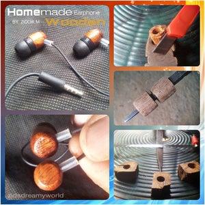 Home Made Wooden Earphones