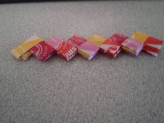 How to Make a Starburst (or Bubble Gum) Wrapper Chain