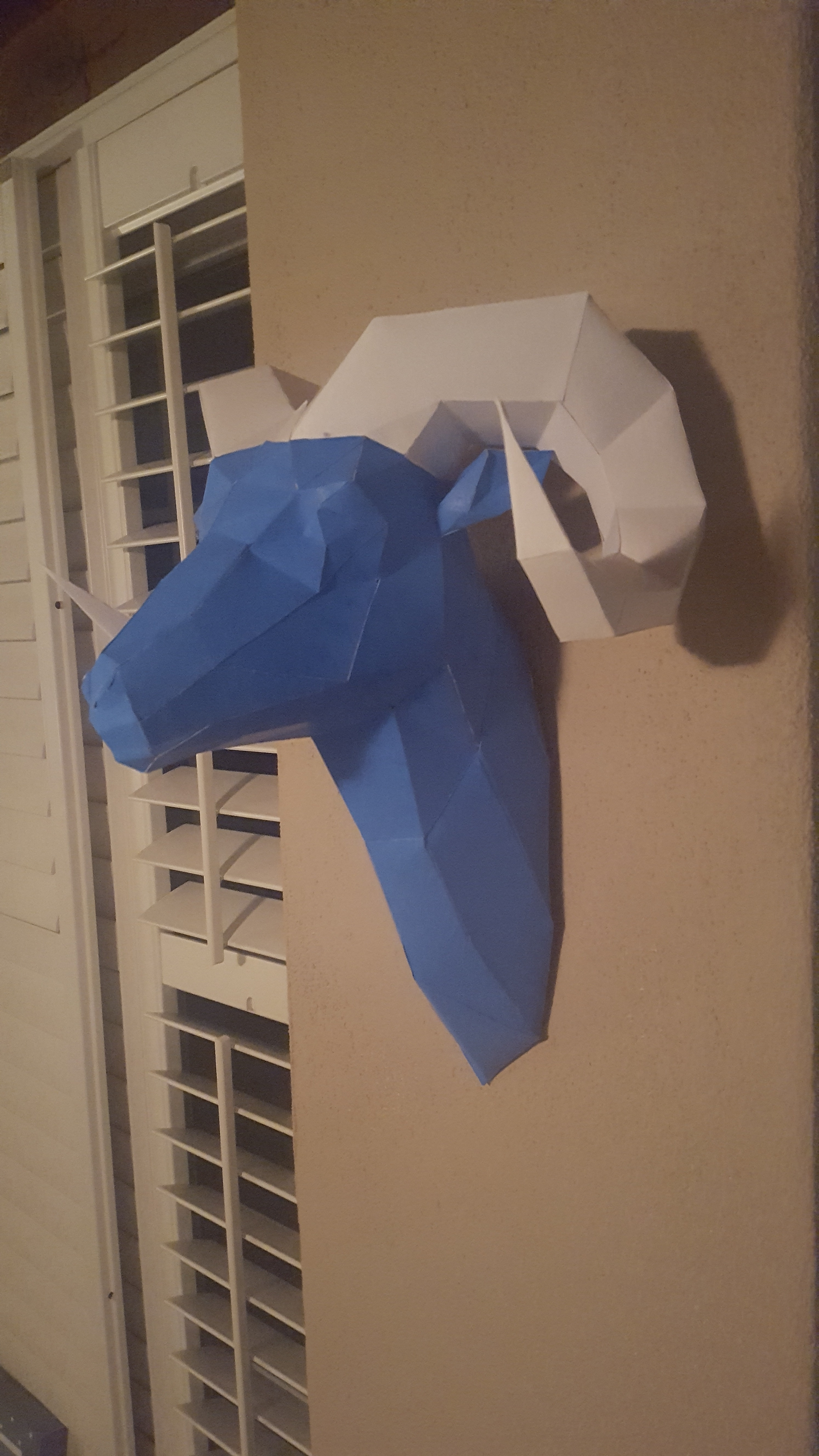 Picture of Papercraft Faceted Ram Template