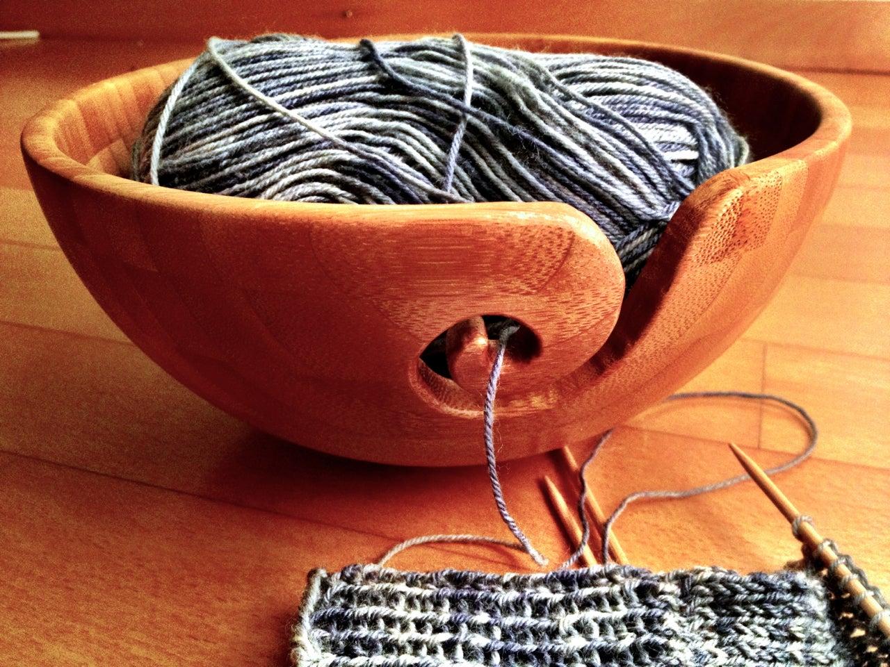 Bamboo Yarn Bowl