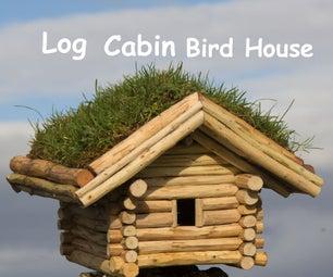 DIY Log Cabin Bird House
