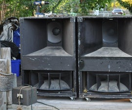 How to Refurbish a Big Pair of Stereo Speakers
