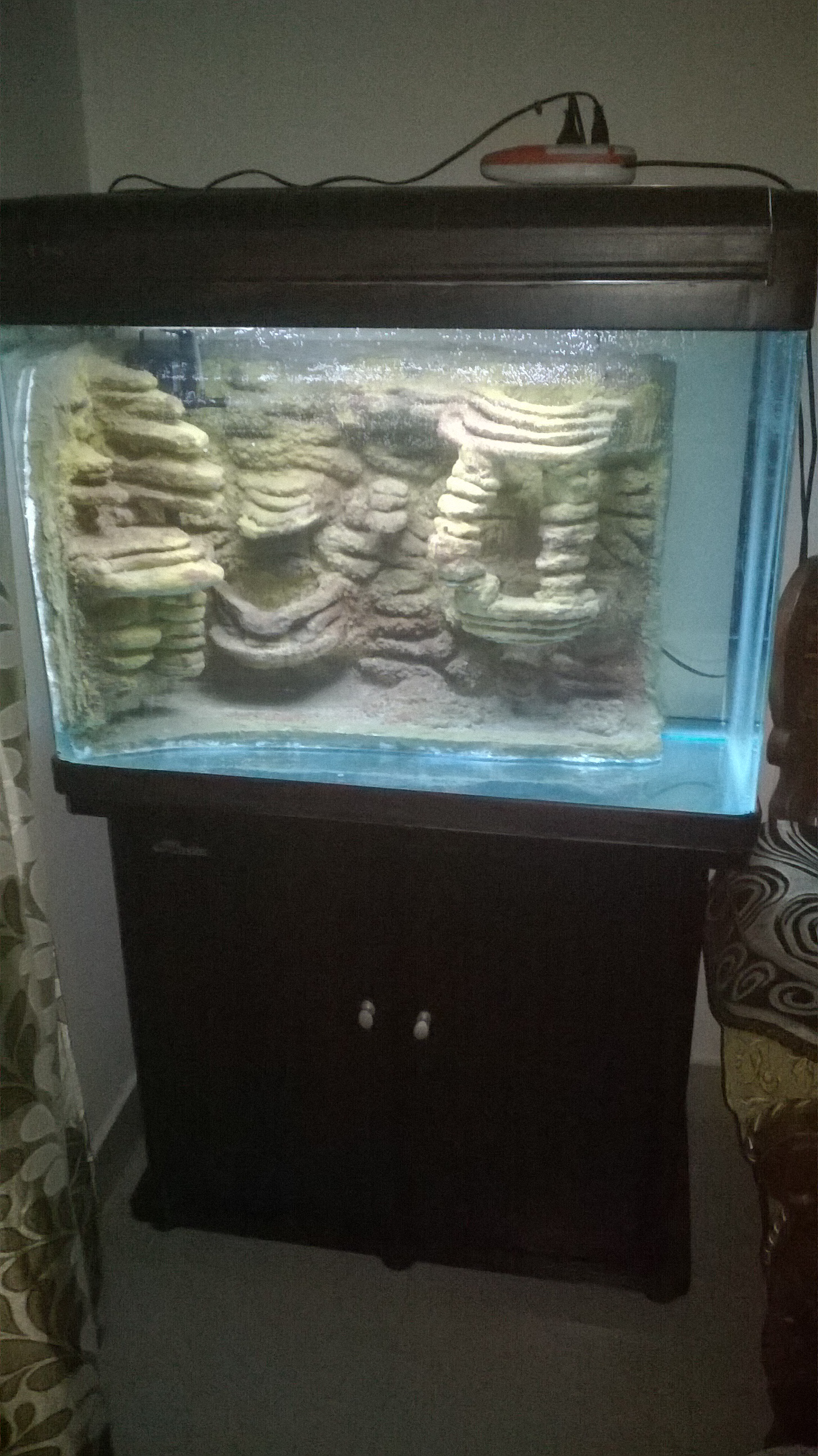 Picture of Aquarium 3D Background With Cement and Thermocol(Styrofoam)