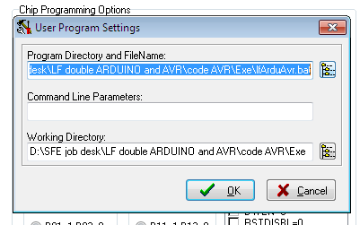 Picture of Codevision AVR Setting: Program Setting