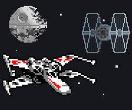 Star Wars themed retro arcade game