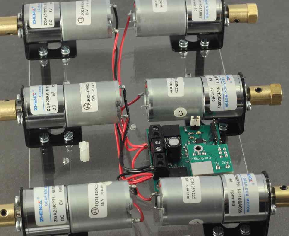 Picture of Wiring the Remaining 3 Motors With Red Wires
