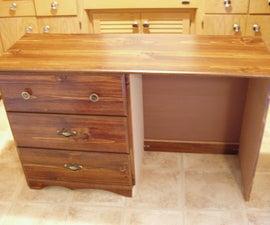 A New-Fangled Desk...From A Dresser