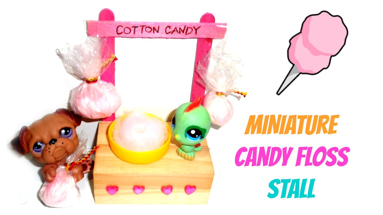 Picture of Miniature Cotton Candy Stall (Doll Crafts)