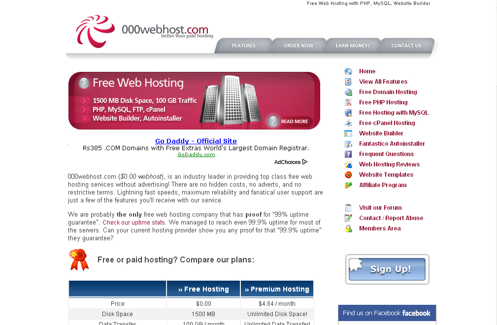 Picture of Getting Free Hosting